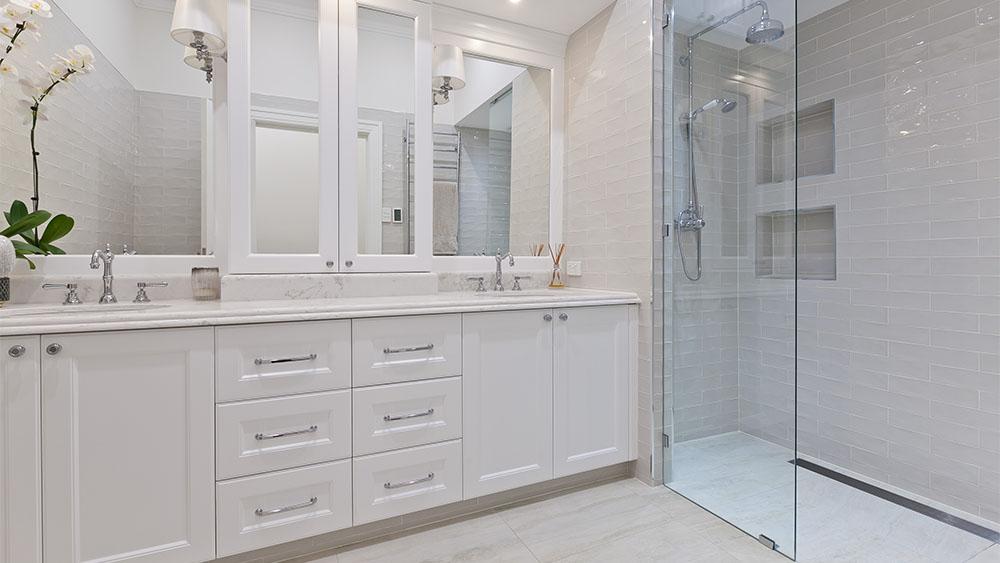 custom bathroom renovation to modernise old home Perth