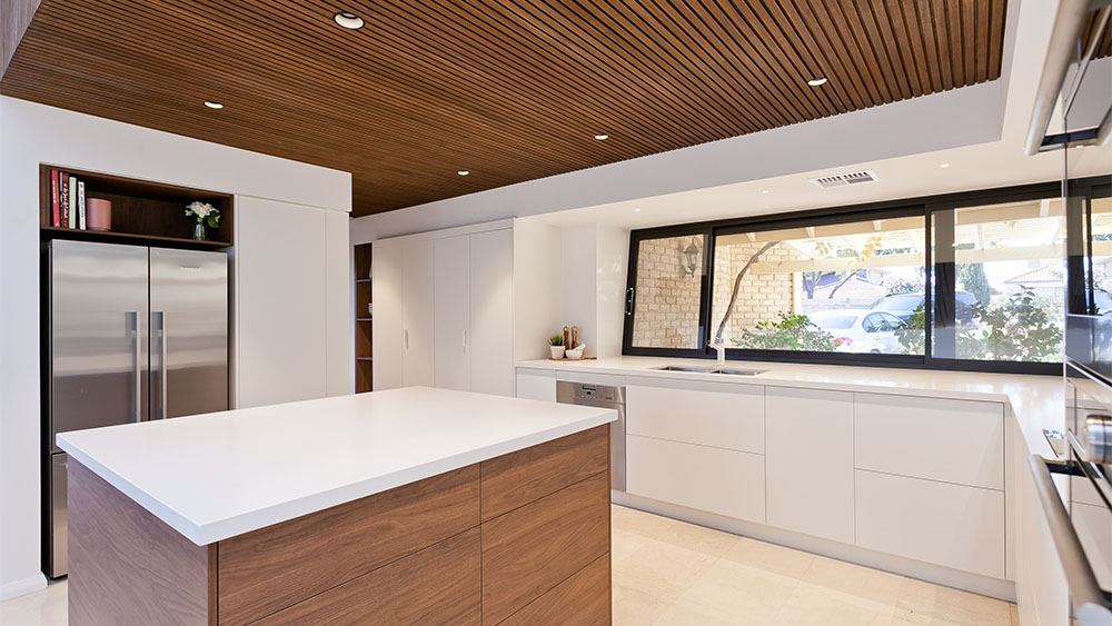 open kitchen design with lots of light