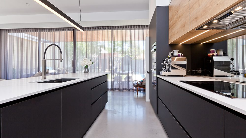 helpful kitchen renovation with lots of storage and custom cabinetry