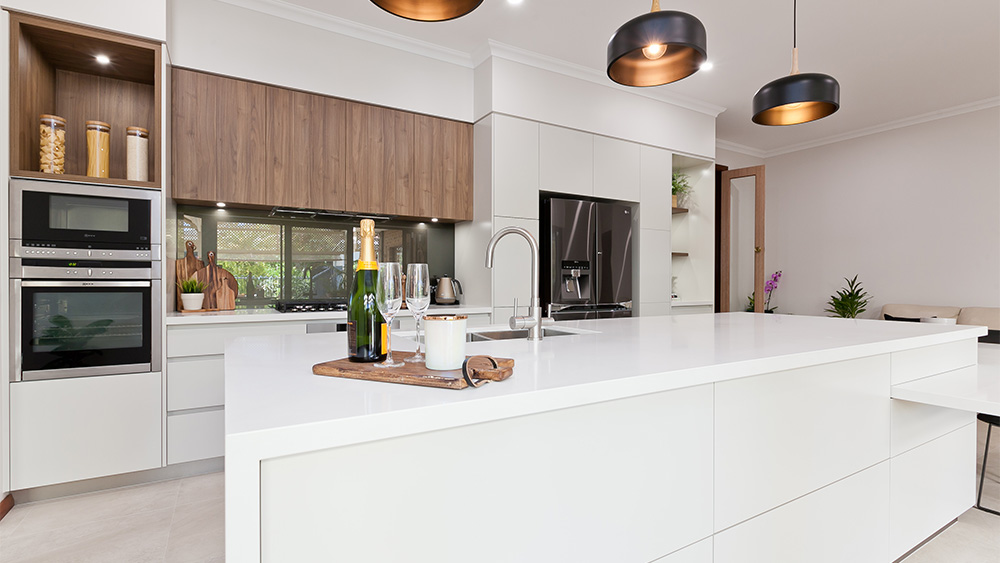 island countertop in luxury kitchen renovation