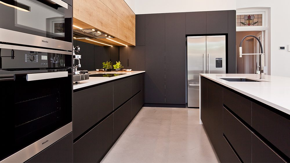 dark brown custom cabinetry for a perth kitchen renovation