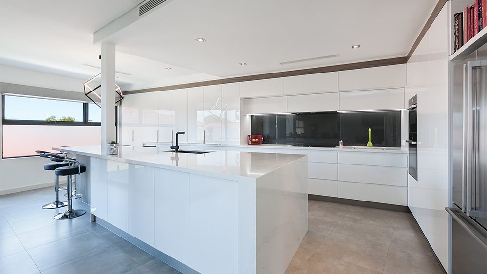renovated large perth kitchen by salt with lots of custom cabinetry for extra storage