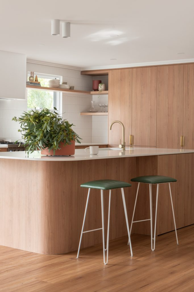 custom designed and constructed wood kitchen